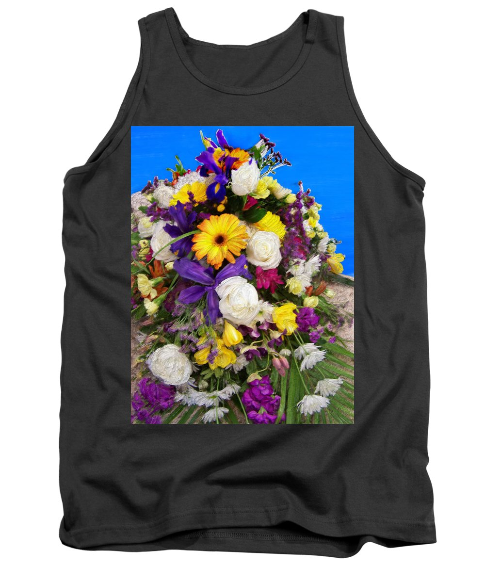 Flowers Tank Top featuring the painting Beautiful Bouquet Of Flowers by Bruce Nutting