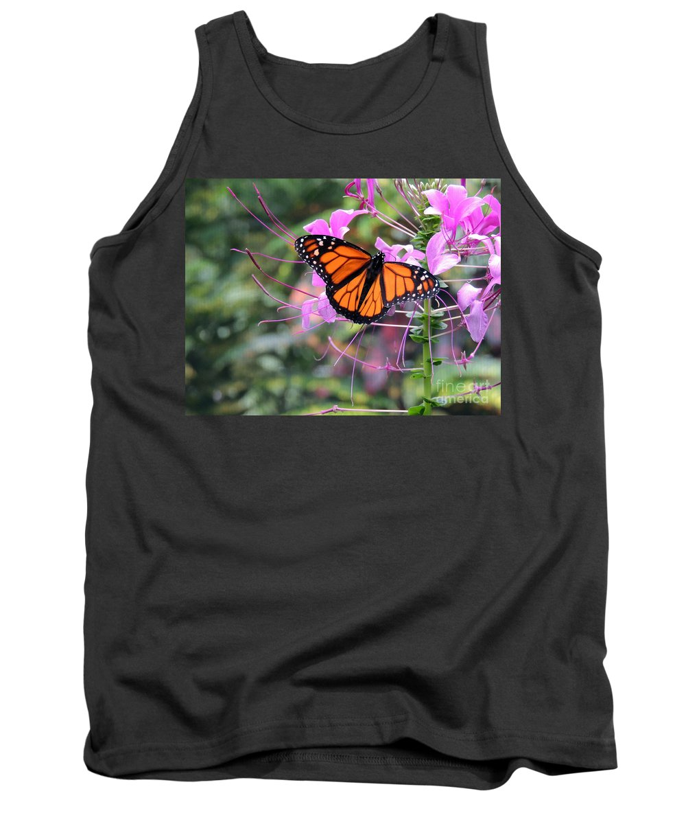 Beautiful Butterfly Tank Top featuring the photograph Beautiful Butterfly by Lydia Holly