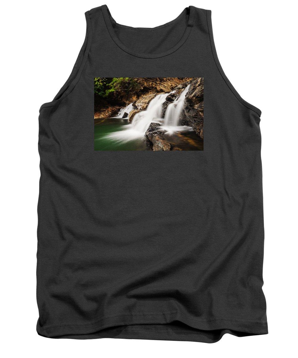 Waterfall Tank Top featuring the photograph Beautiful Waterfall In Western Ghats Karnataka India by Vishwanath Bhat