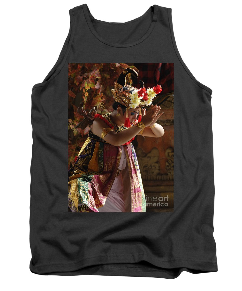 Barong Dancer Tank Top featuring the photograph Beauty Of The Barong Dance 4 by Bob Christopher