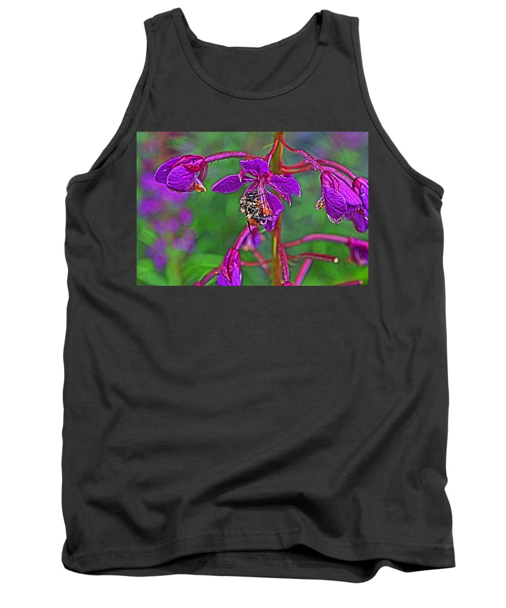Bee Tank Top featuring the photograph Bee In Hdr by Cathy Mahnke