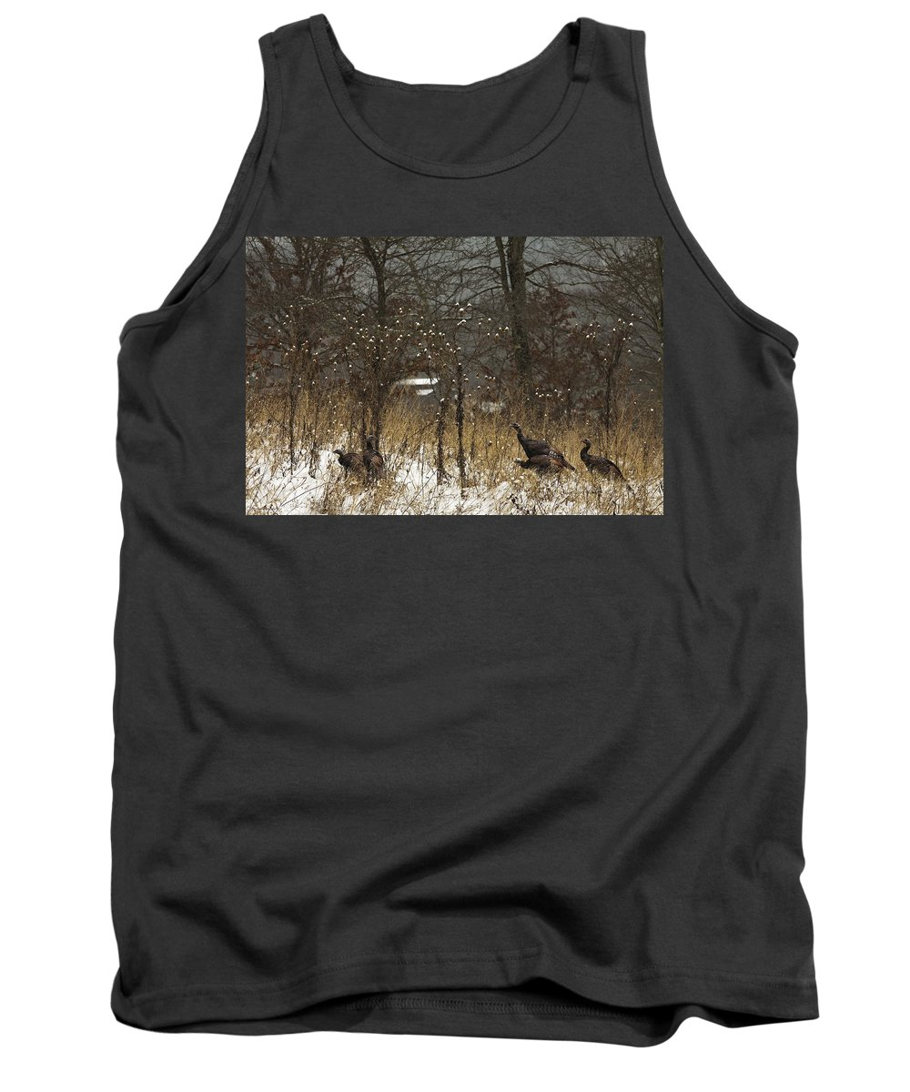 Winter Tank Top featuring the photograph Behind The Barn by Ron Jones