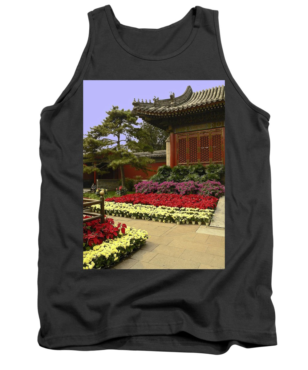 Garden Tank Top featuring the photograph Beijing Summer Palace by Sally Weigand
