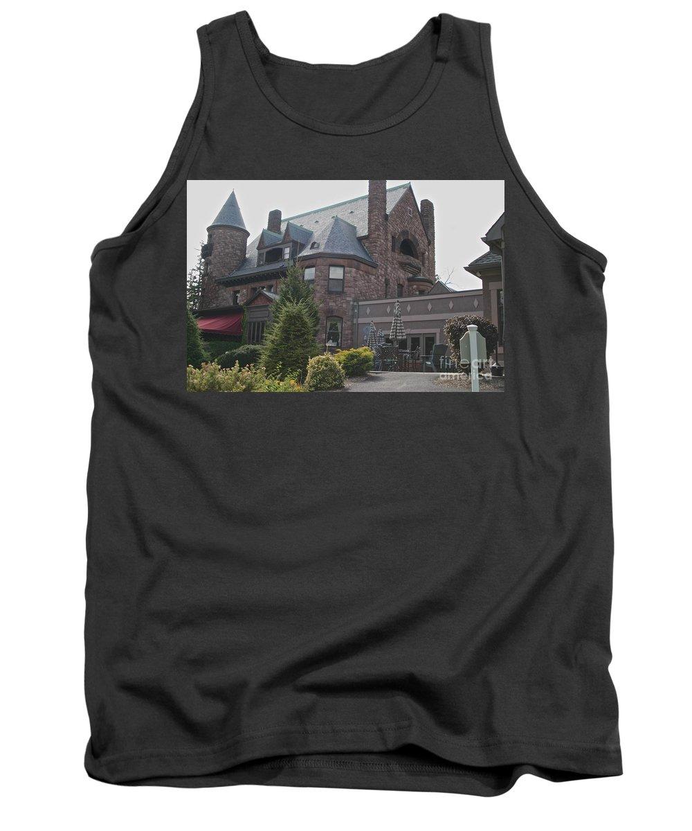 Seneca Lake Tank Top featuring the photograph Belhurst Castle by William Norton