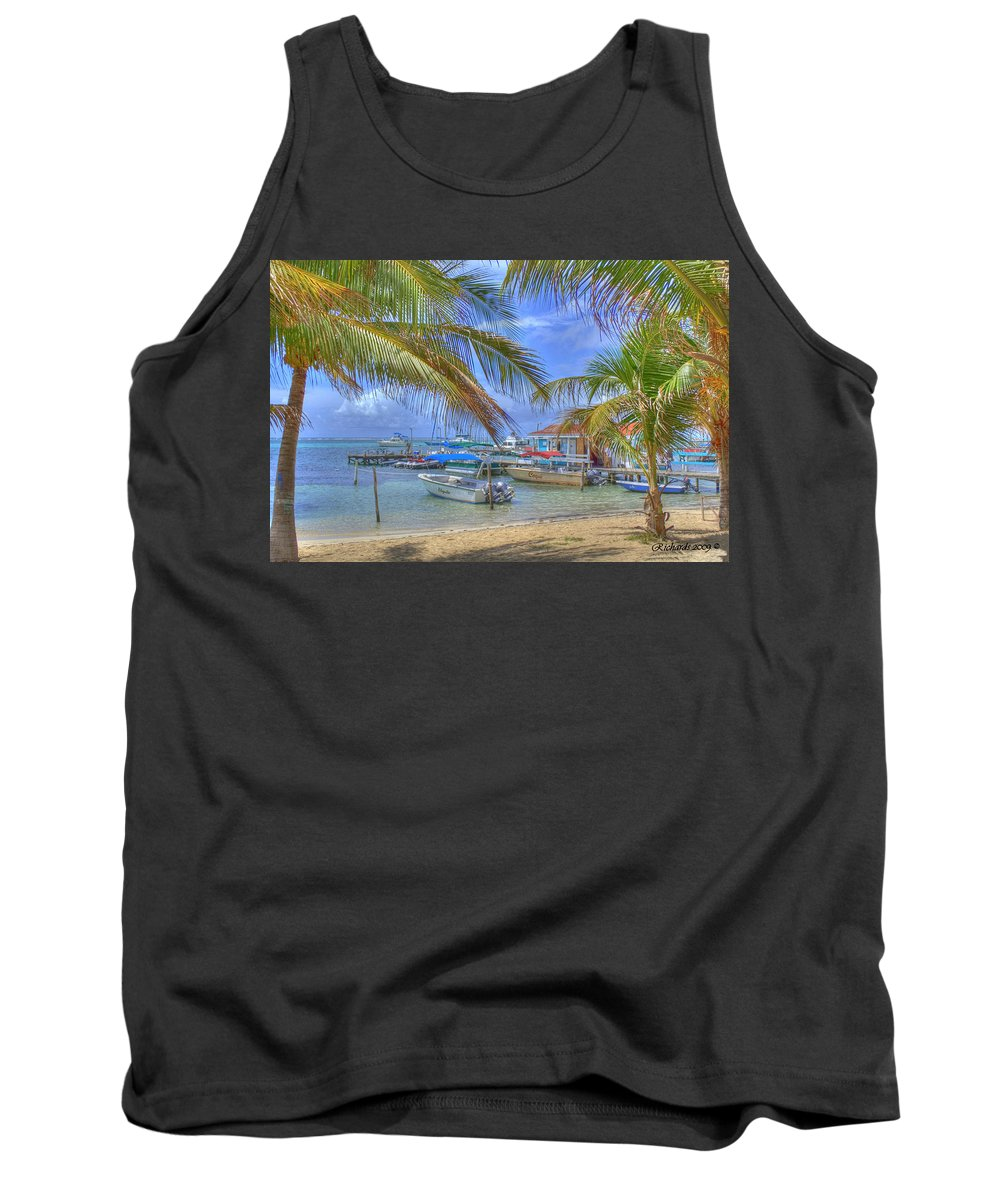 Belize Tank Top featuring the photograph Belize Hdr by Debby Richards