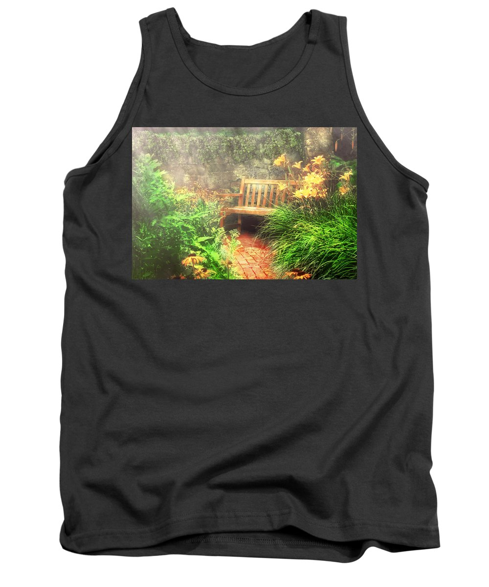 Savad Tank Top featuring the photograph Bench - Privacy by Mike Savad