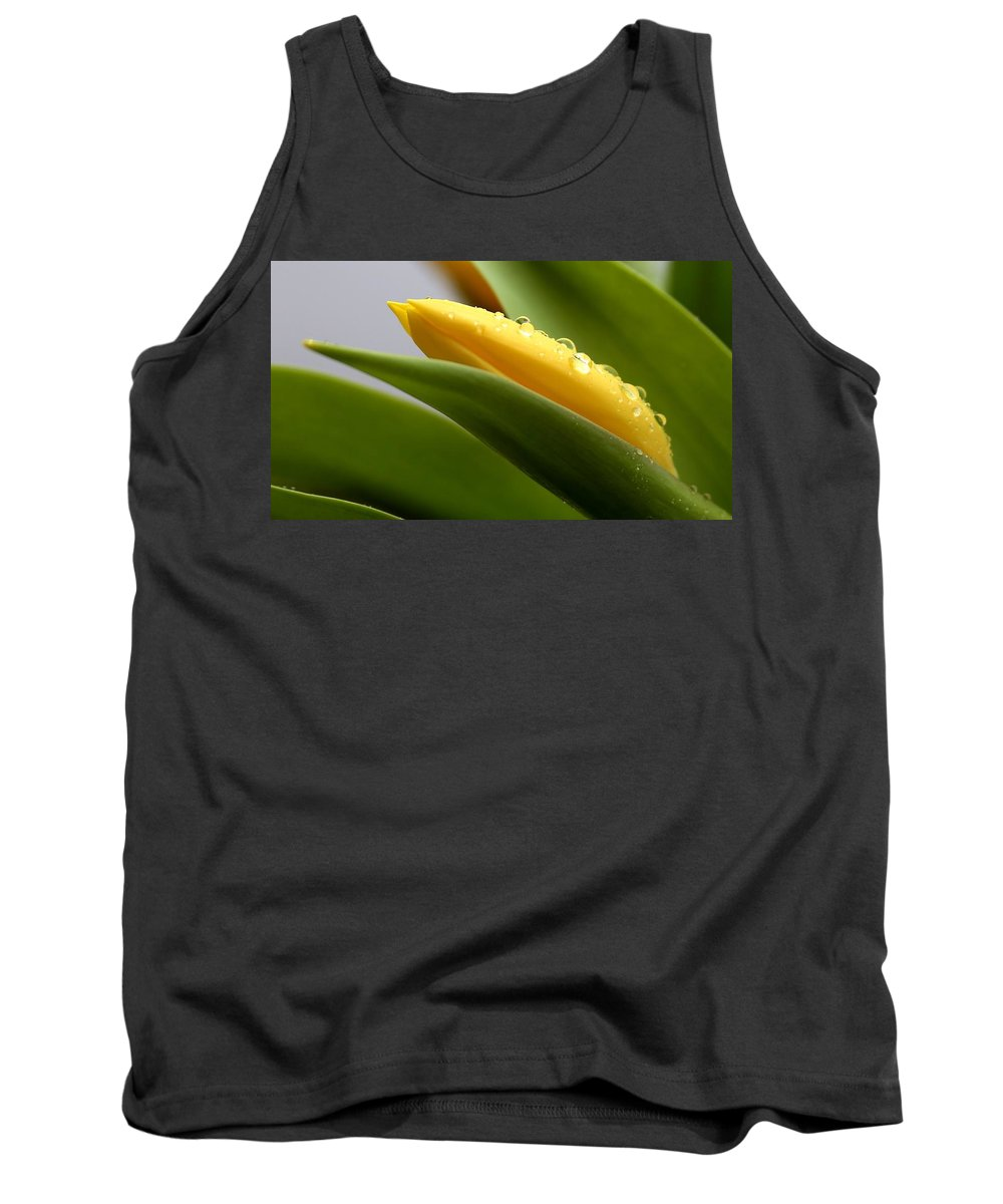 Minimal. Minimalism Tank Top featuring the photograph Better Butter Yellow by Ru Tover
