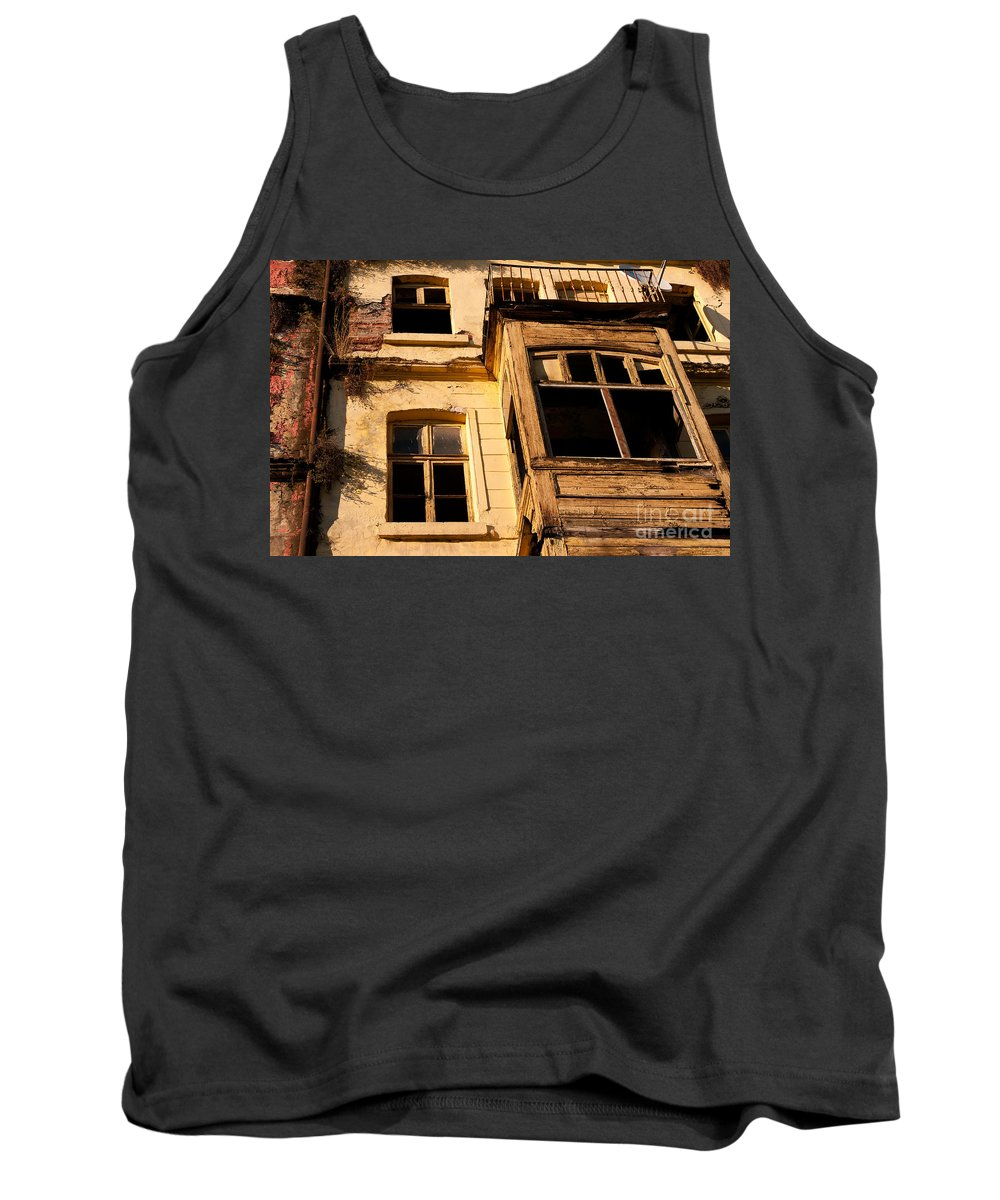Istanbul Tank Top featuring the photograph Beyoglu Old House 02 by Rick Piper Photography