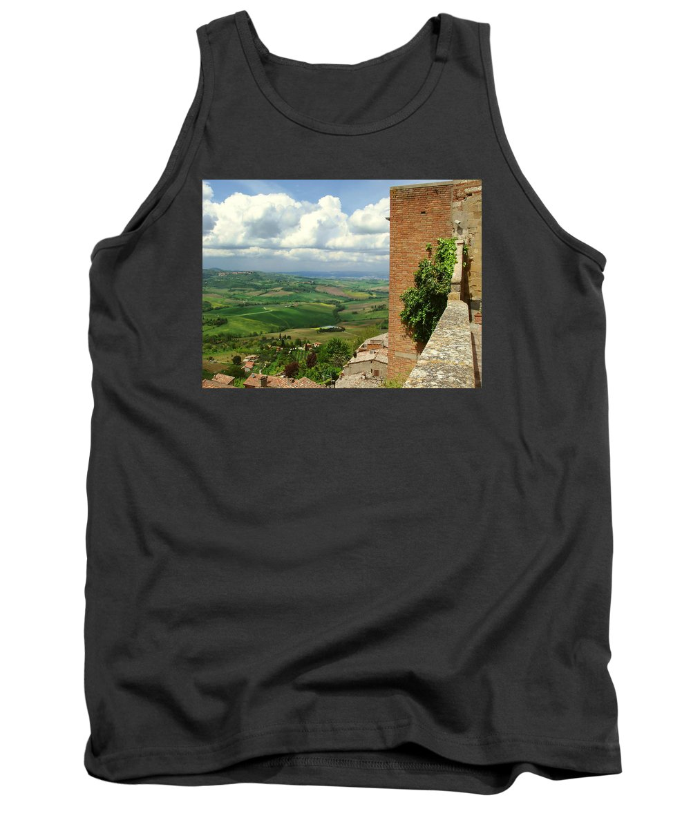 Beyond The Rooftops Tank Top featuring the photograph Beyond The Rooftops 2 by Ellen Henneke