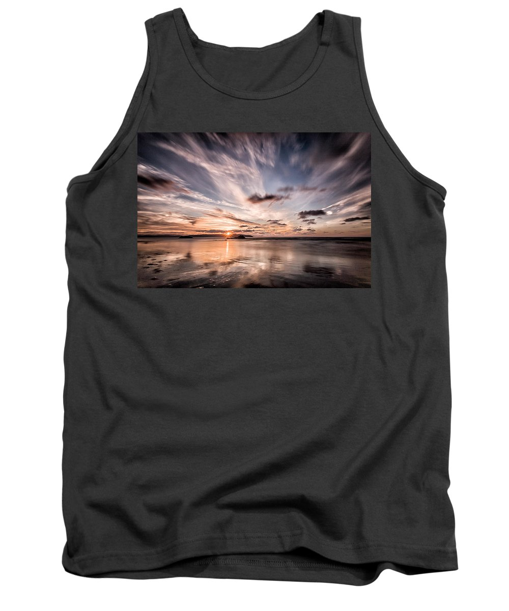 Sunset Tank Top featuring the photograph Atlantic Sky by Nigel R Bell