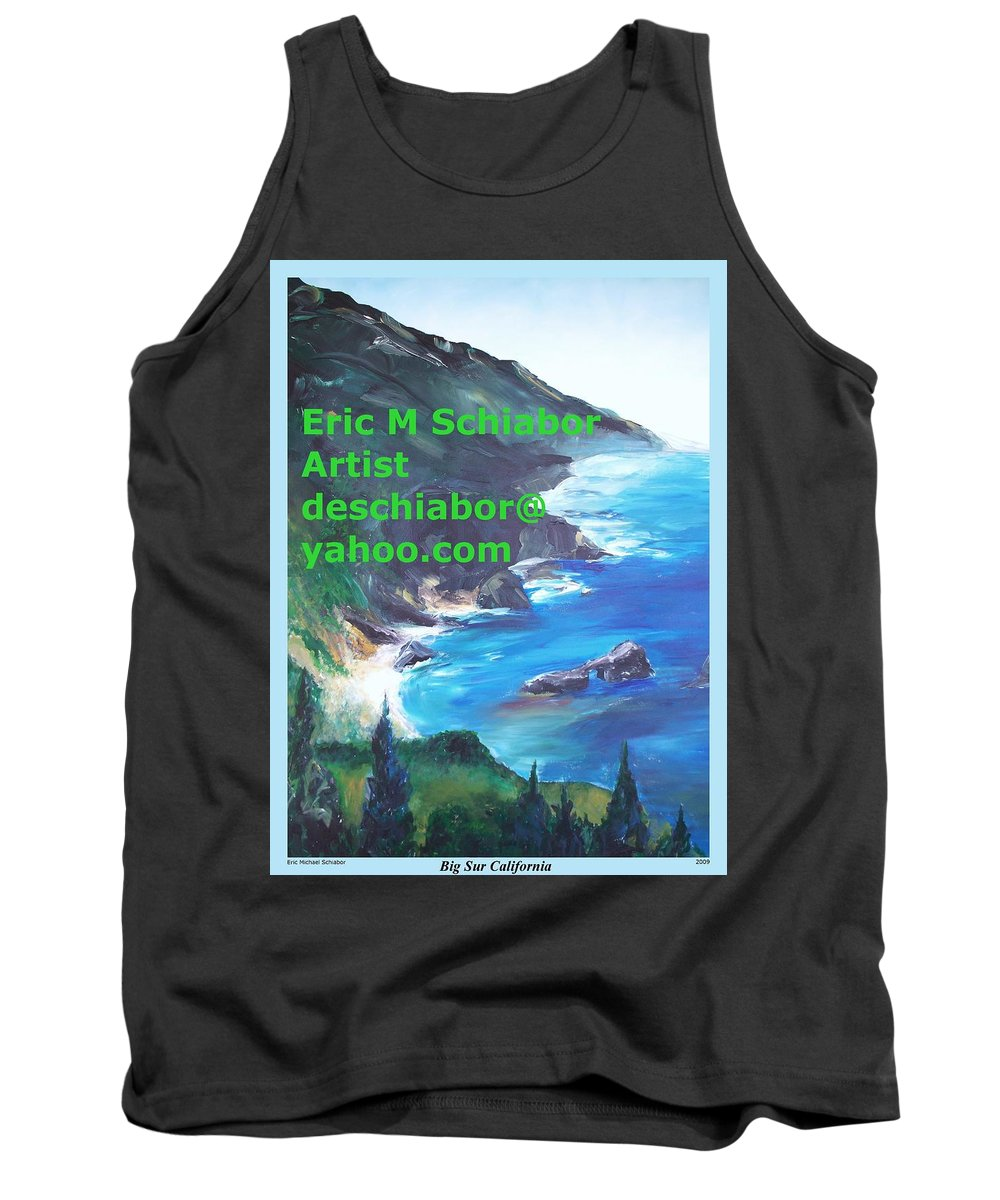 Big Sur Tank Top featuring the painting Big Sur Califorina by Eric Schiabor