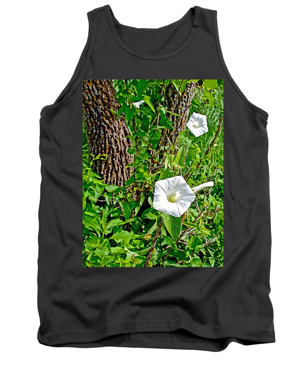 Bindweed In Pipestone National Monument Tank Top featuring the photograph Bindweed In Pipestone National Monument-minnesota by Ruth Hager