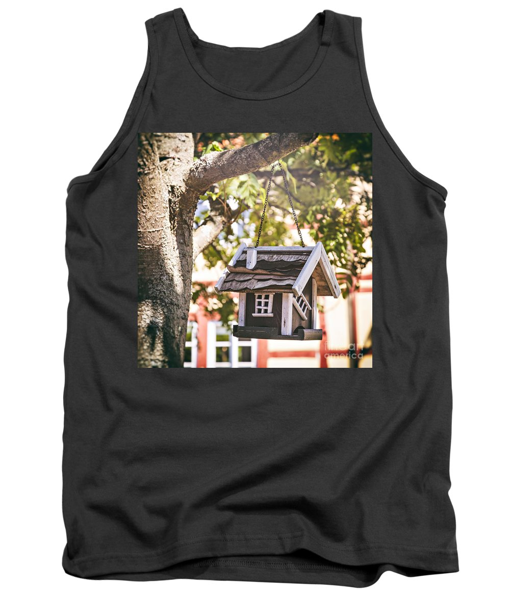 Brown Tank Top featuring the photograph Birdhouse by Sophie McAulay