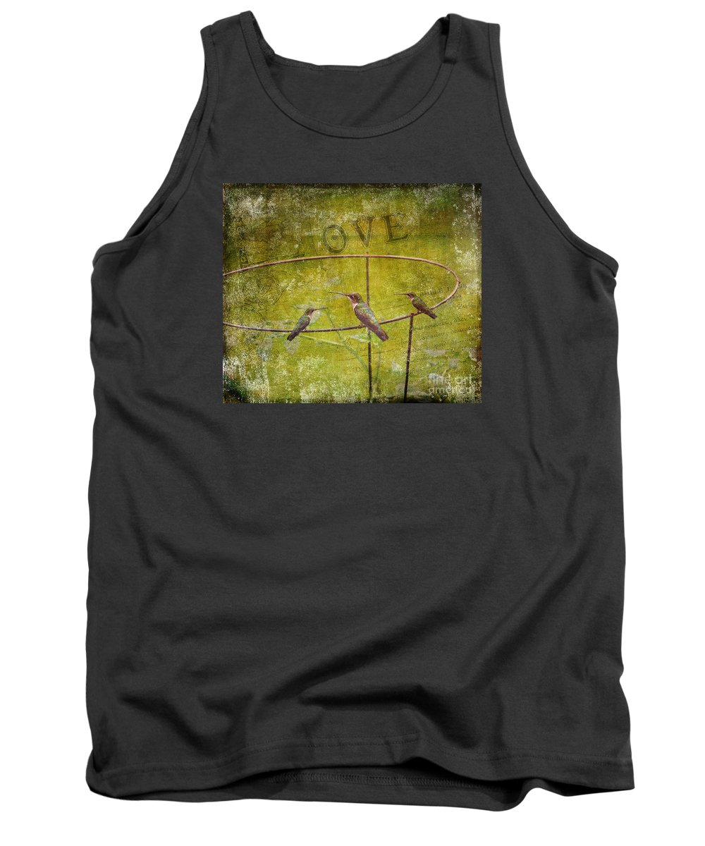 Fine Art Print Tank Top featuring the photograph Birds On A Wire by Patricia Griffin Brett