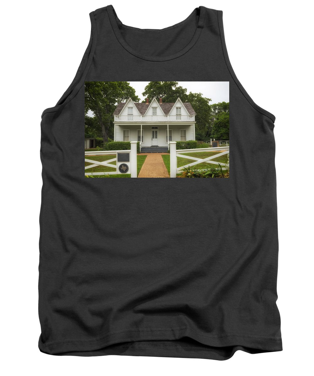 Denison Tank Top featuring the photograph Birth Home Of Dwight D Eisenhower - Denison Texas by Mountain Dreams