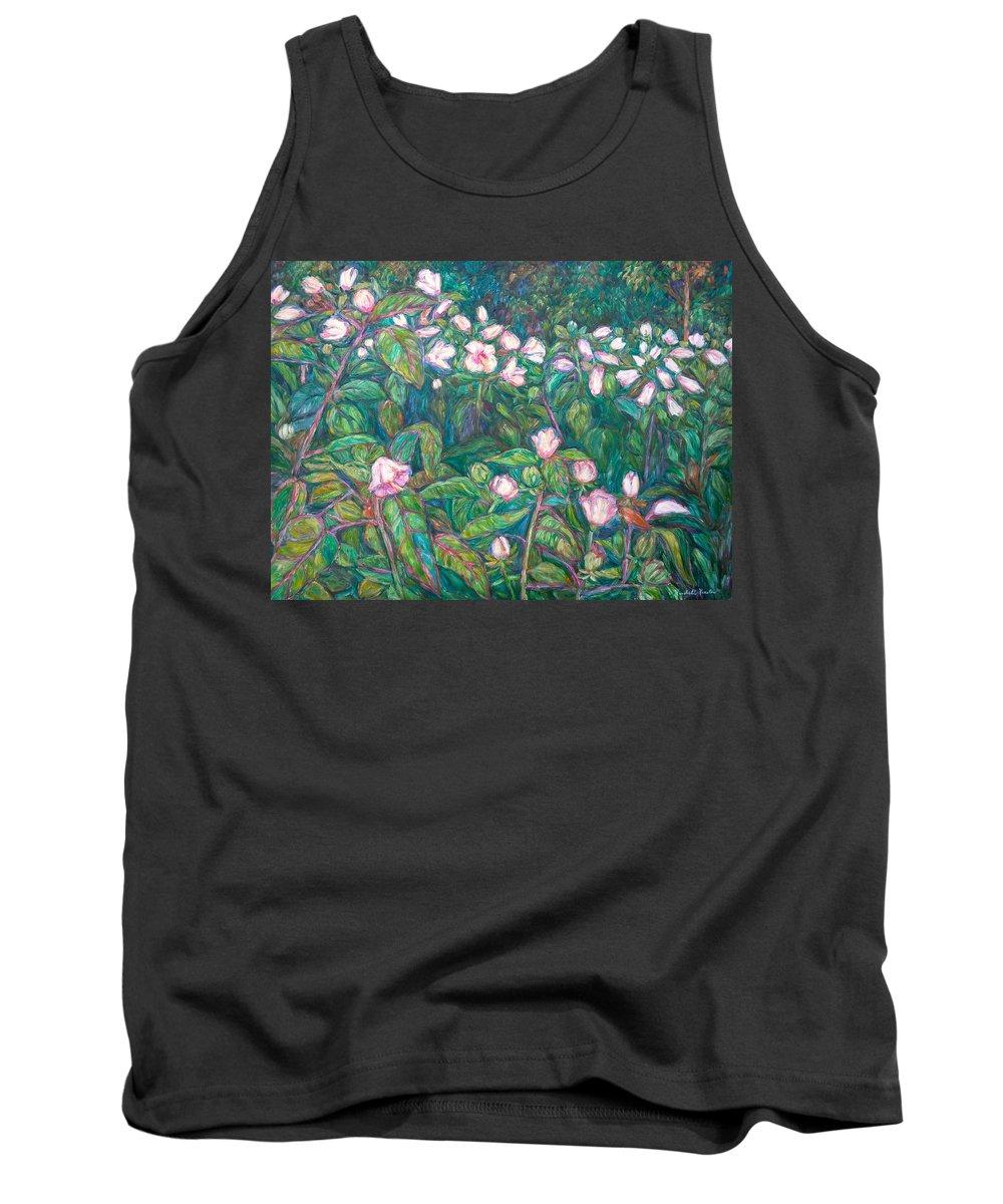 Radford City Wildflower Paintings Tank Top featuring the painting Bisset Park Hibiscus by Kendall Kessler