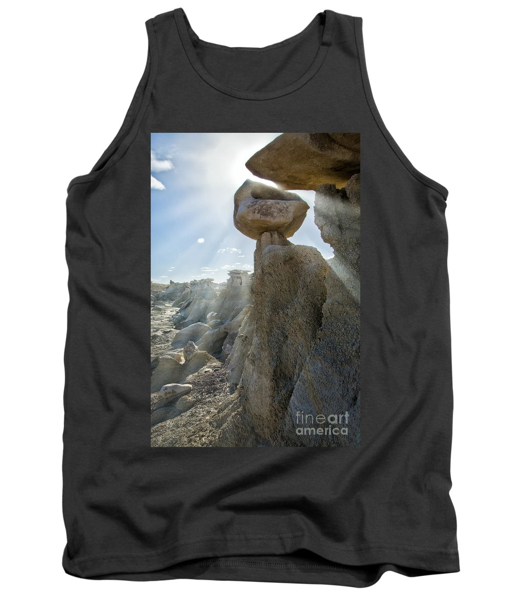 Bisti Badlands Tank Top featuring the photograph Bisti Badlands 6 by Timothy Hacker