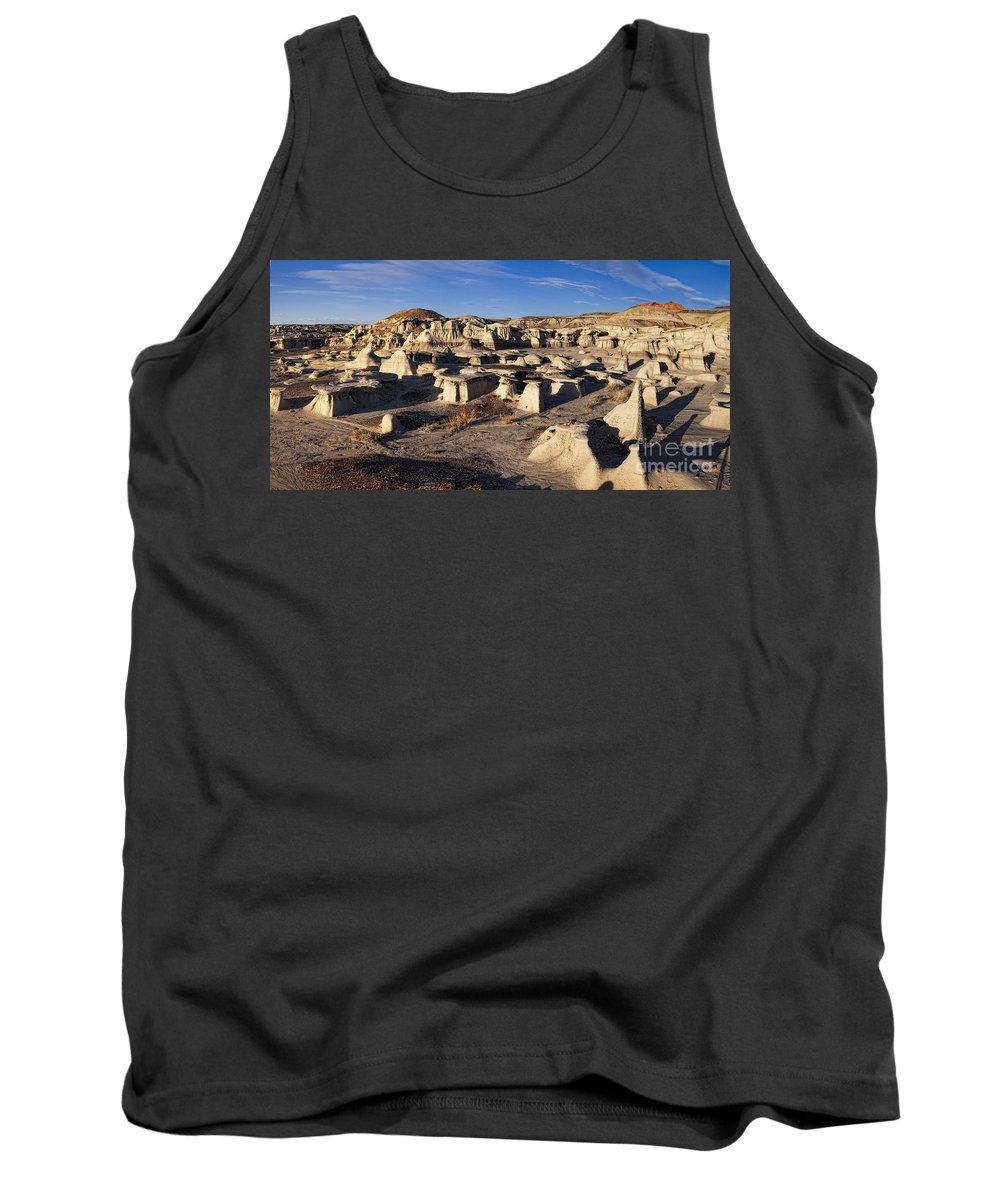 Bisti Badlands Tank Top featuring the photograph Bisti Badlands Pano by Timothy Hacker