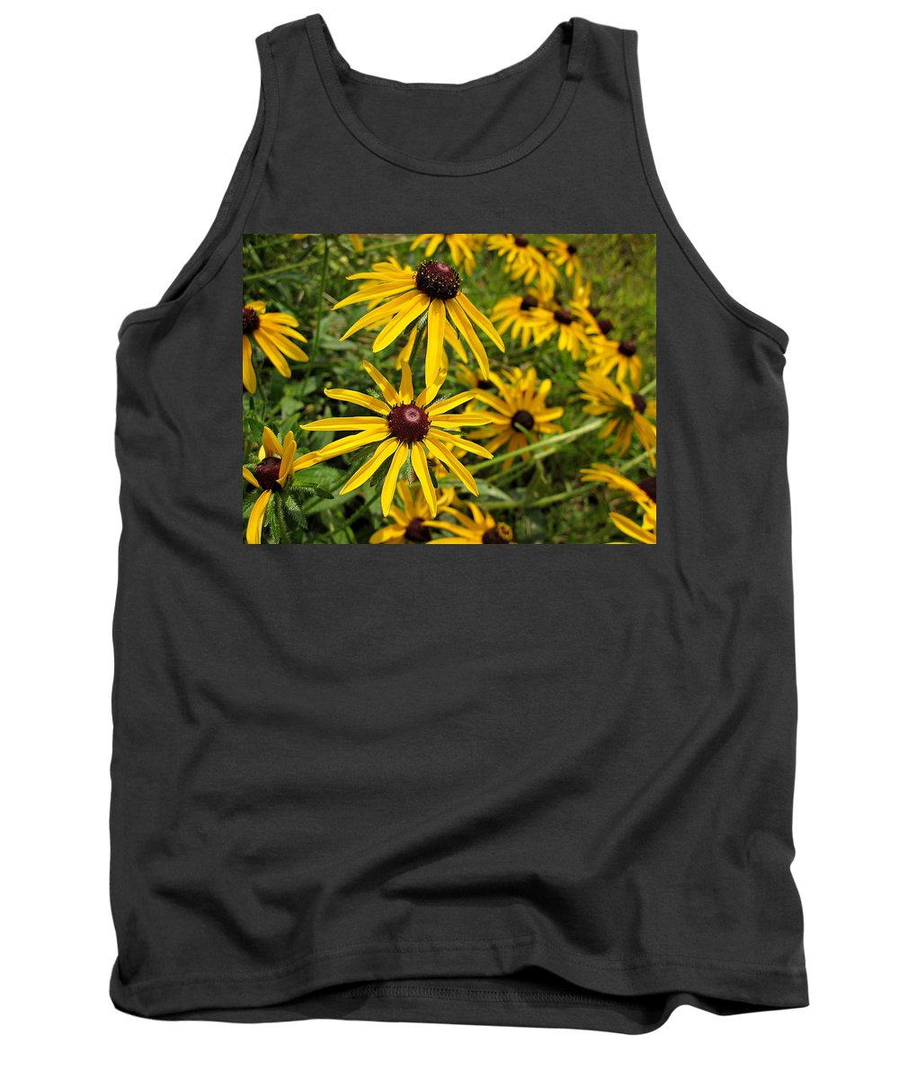 Rudbeckia Tank Top featuring the photograph Black-eyed Susans by MTBobbins Photography