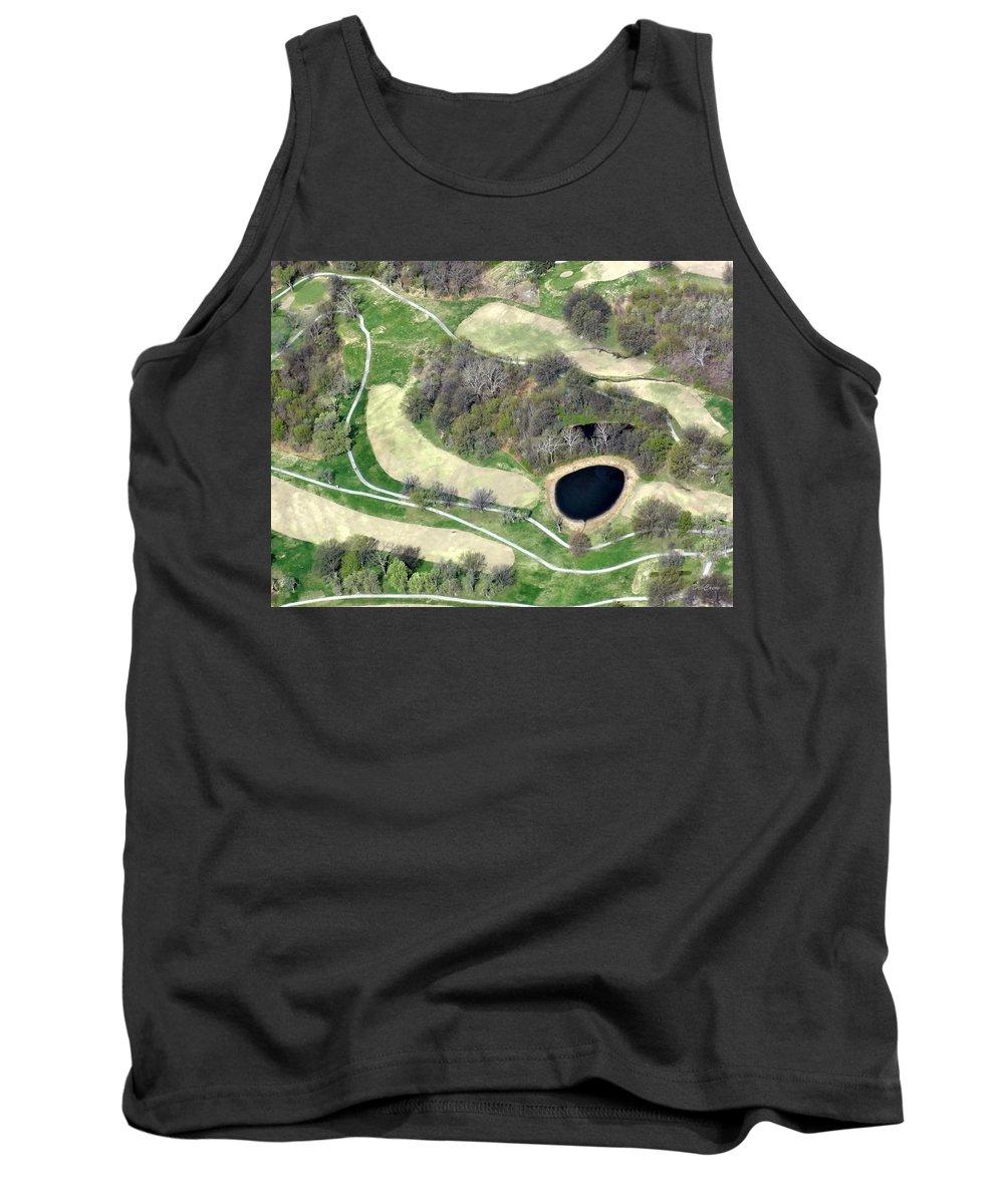 Golf Course Tank Top featuring the photograph Black Hole by Deborah Crew-Johnson