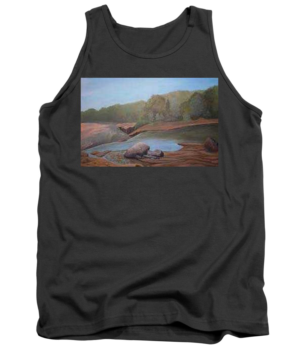 Rick Huotari Tank Top featuring the painting Black River Falls by Rick Huotari