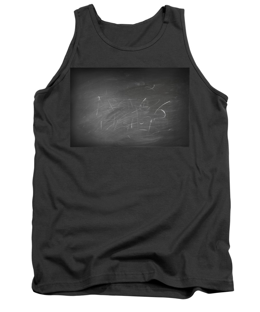 Chalkboard Tank Top featuring the photograph Blackboard by Les Cunliffe