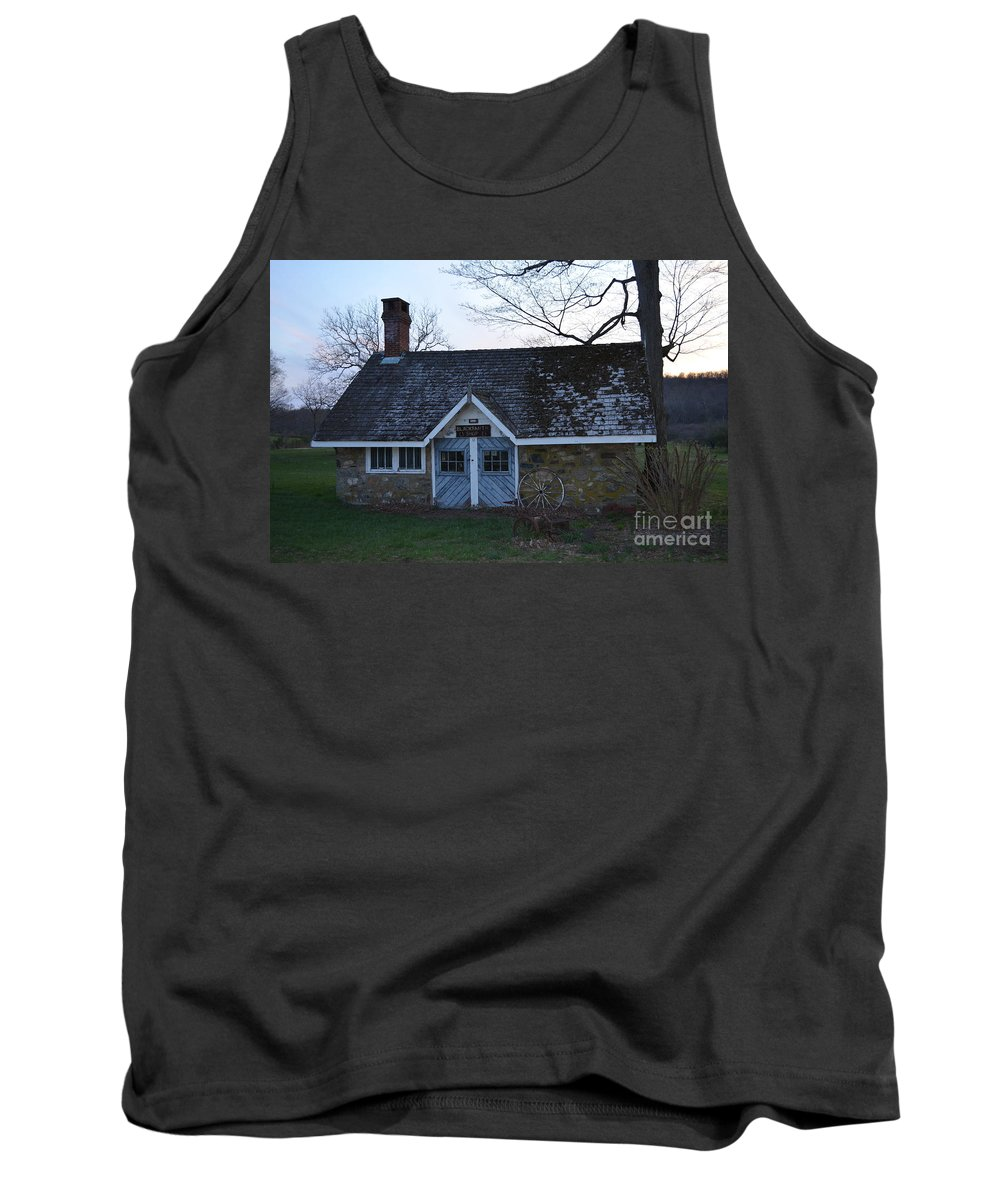 Original Tank Top featuring the photograph Oldtime Blacksmith Shop by Michael Keough