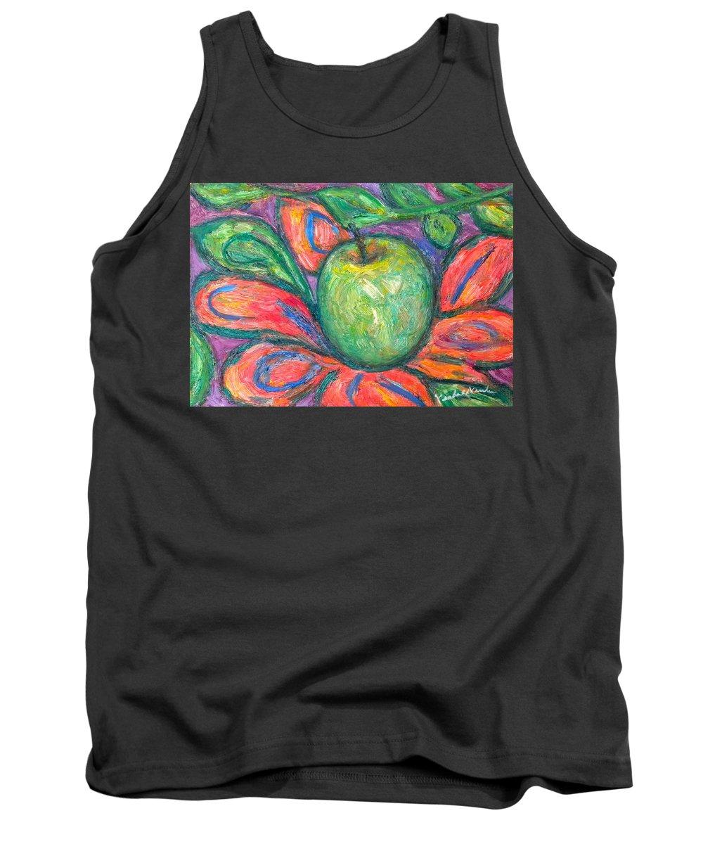 Apple Paintings Tank Top featuring the painting Blooming Apple by Kendall Kessler