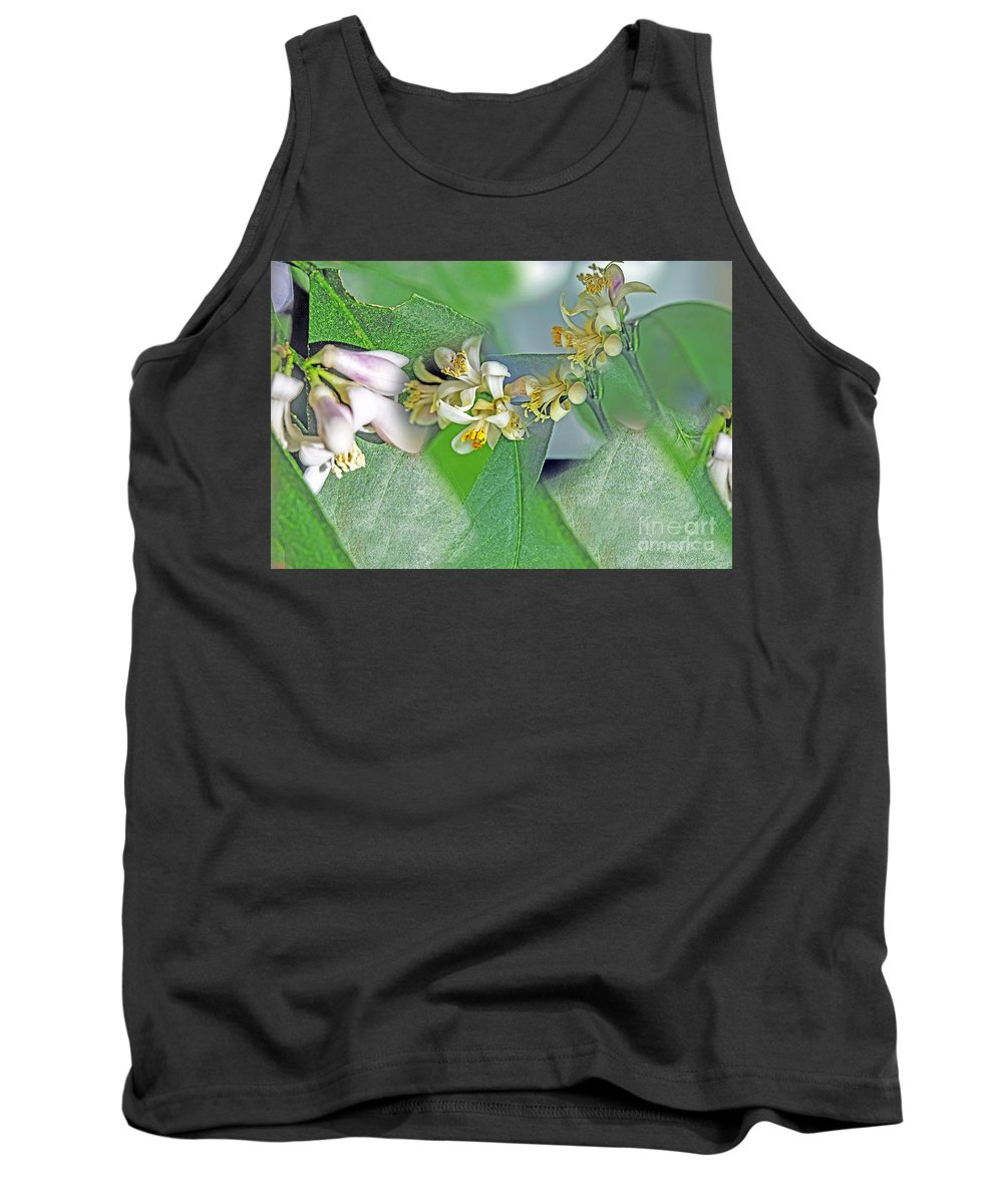 Nature Tank Top featuring the photograph Blooms Of Lemon Tree by Elvis Vaughn