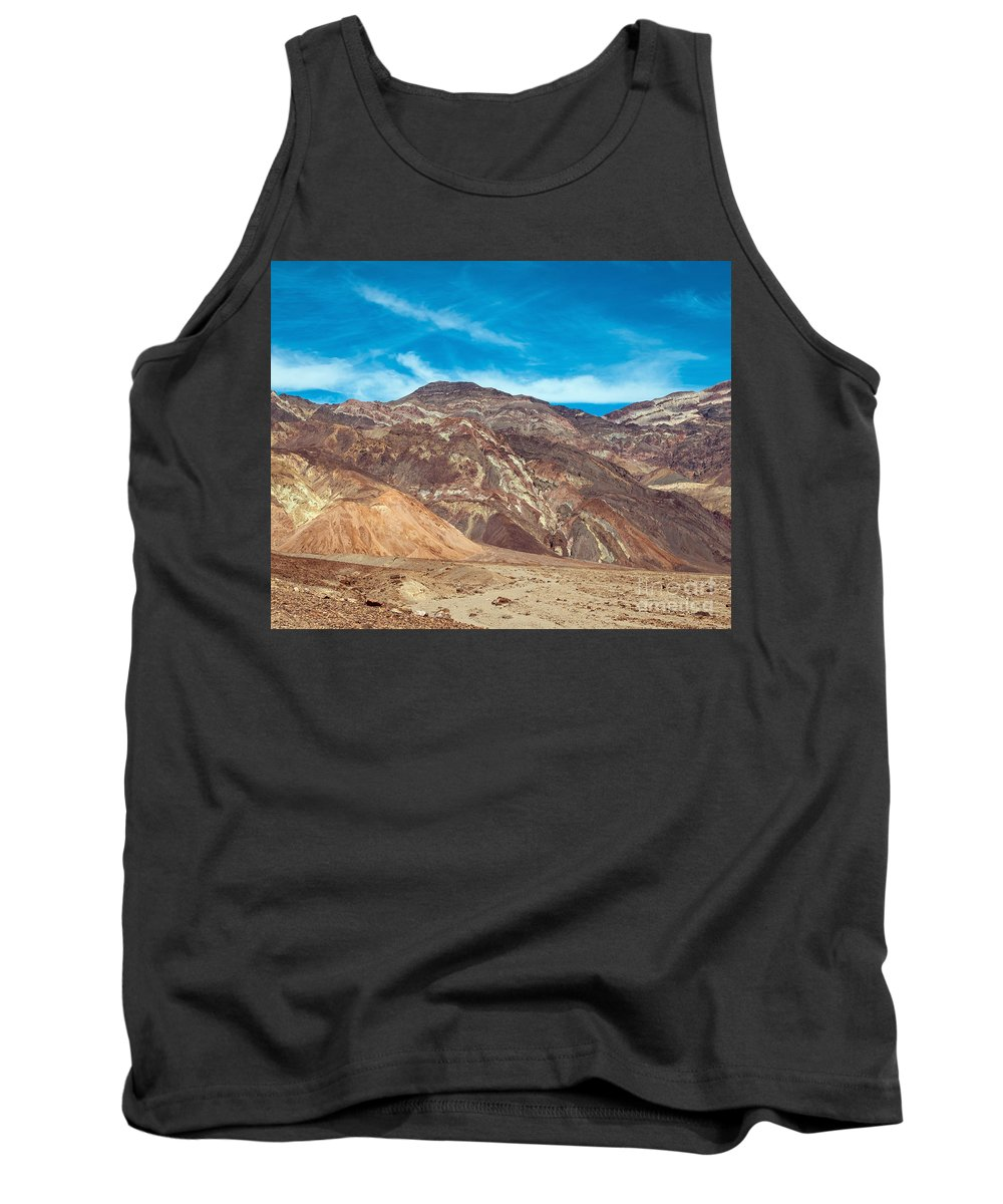 Blotchy Tank Top featuring the photograph Blotchy Foothills by Stephen Whalen