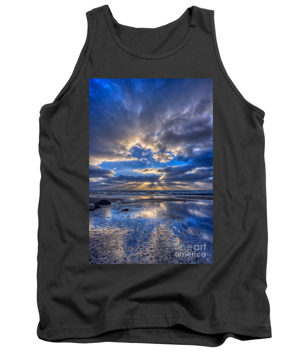Storm Tank Top featuring the photograph Blue by Beth Sargent
