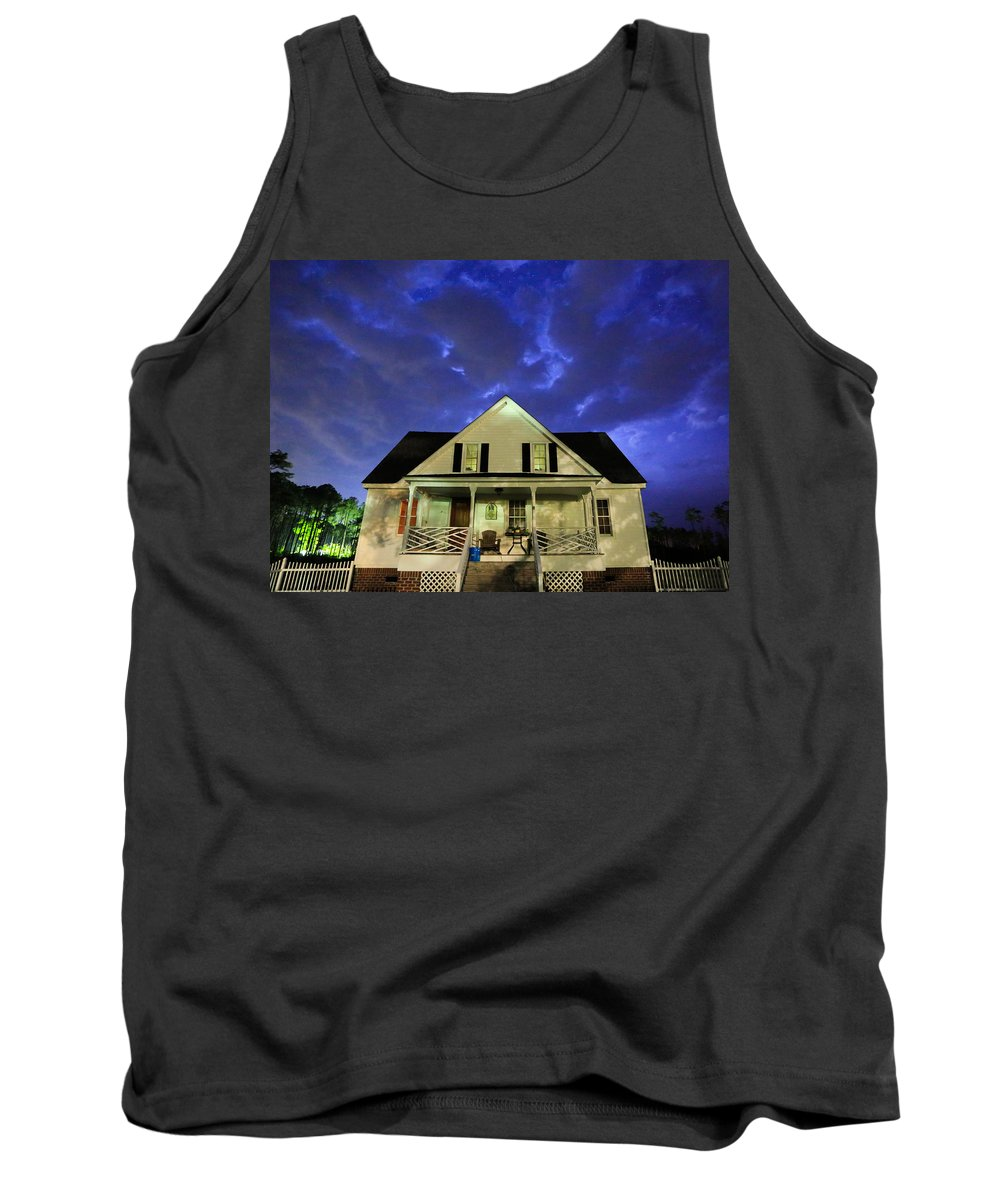 House Tank Top featuring the photograph Blue Bucket by Paula OMalley