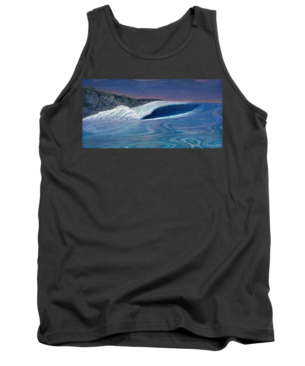 Seascape Tank Top featuring the painting Blue Dream by Nathan Ledyard