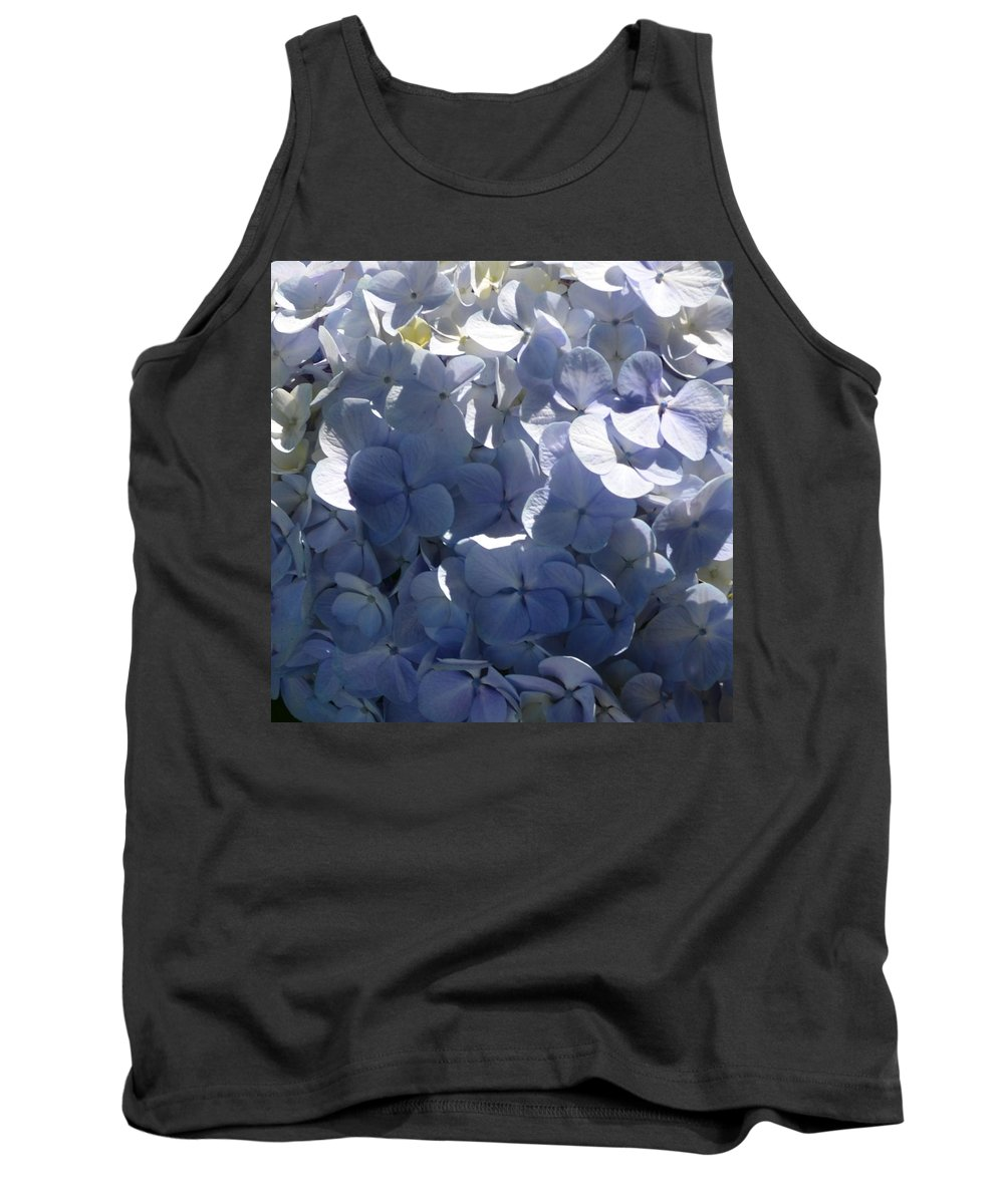 Hydrangeas Tank Top featuring the photograph Blue Hydrangeas by Cheryl Miller