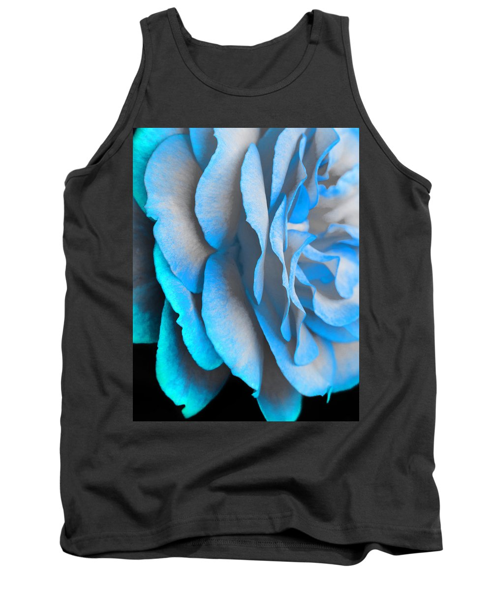 Rose Tank Top featuring the photograph Blue Impatience by Alex Art and Photo