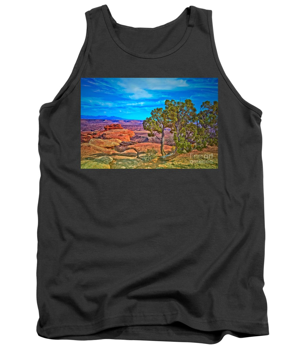 Canyonlands National Park Tank Top featuring the photograph Blue Skies And Canyons by Tara Turner