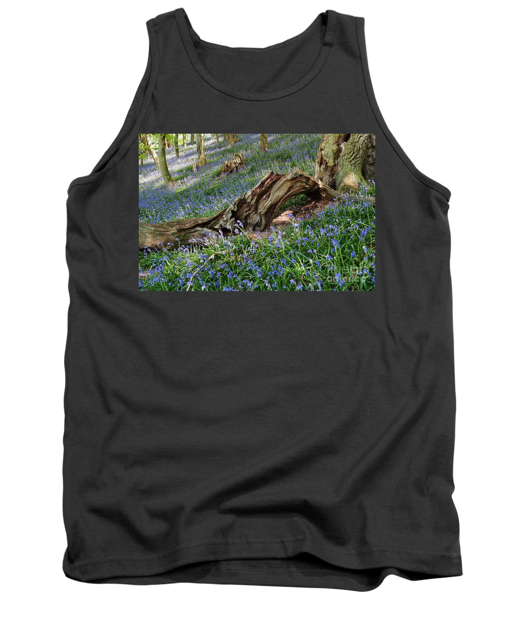 Bluebells Tank Top featuring the photograph Bluebells At Bransdale by Richard Burdon