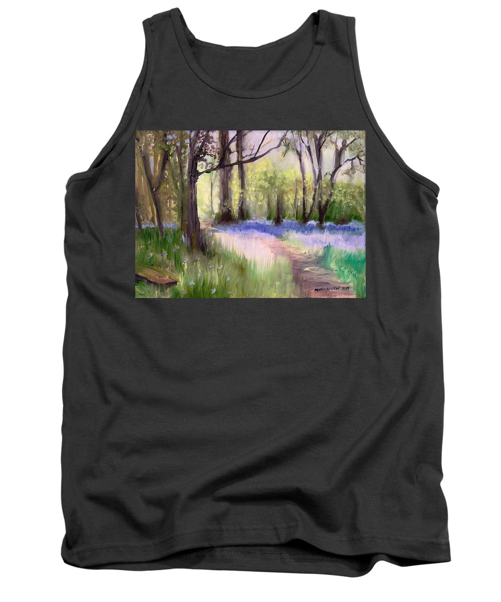 Bluebells Tank Top featuring the painting Bluebells At Dusk by Melissa Herrin