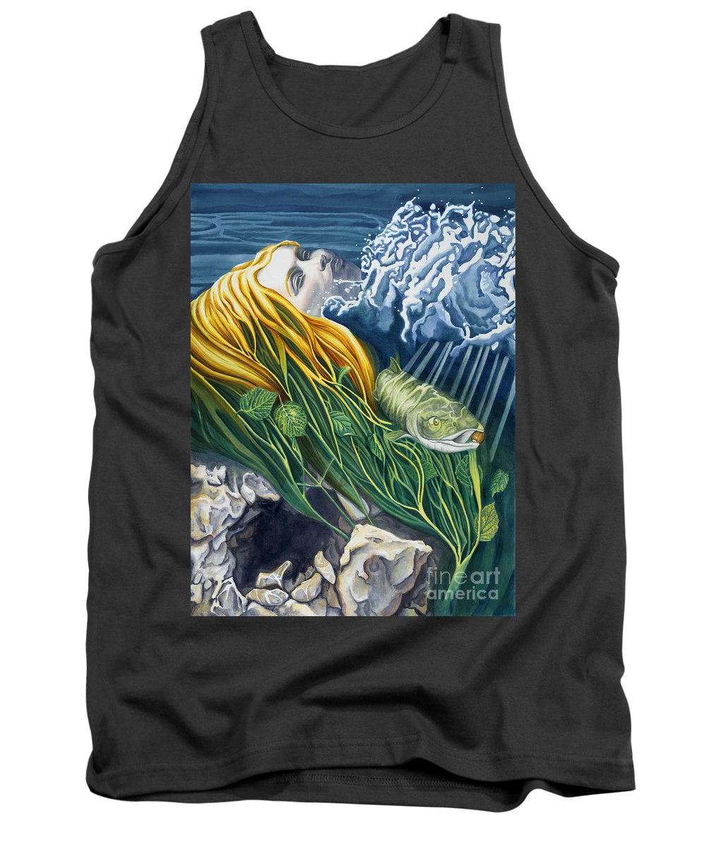 Boann Tank Top featuring the painting Boann Transformation of a Goddess by Antony Galbraith