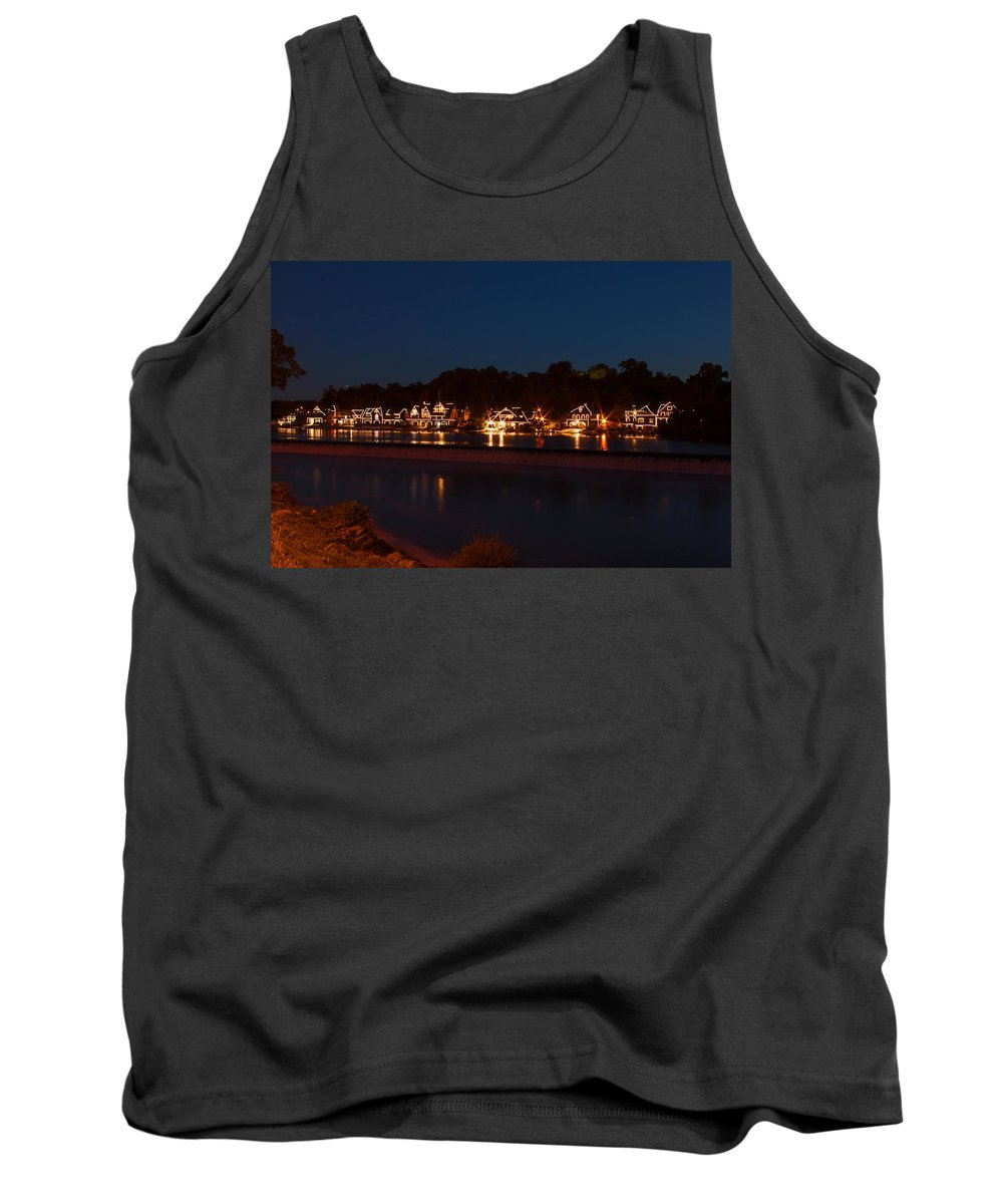 Philadelphia Tank Top featuring the photograph Boathouse Row Before Dawn by Michael Porchik