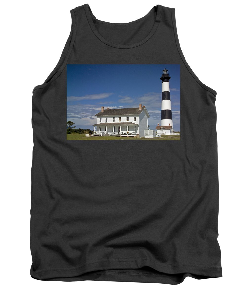 North Carolina Tank Top featuring the photograph Bodie Lighthouse Obx by Greg Reed