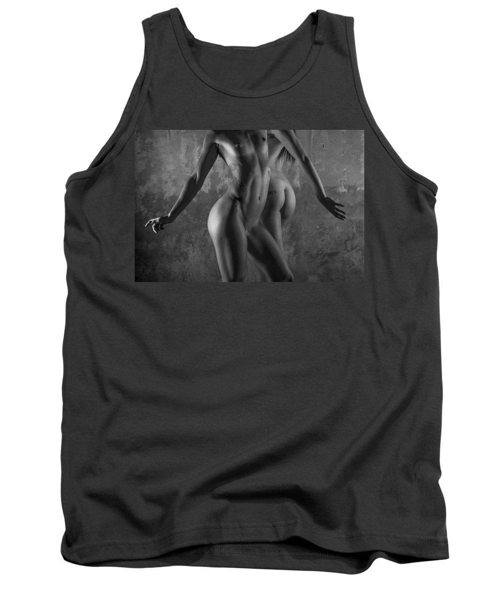 Blue Muse Fine Art Tank Top featuring the photograph Body Language by Blue Muse Fine Art