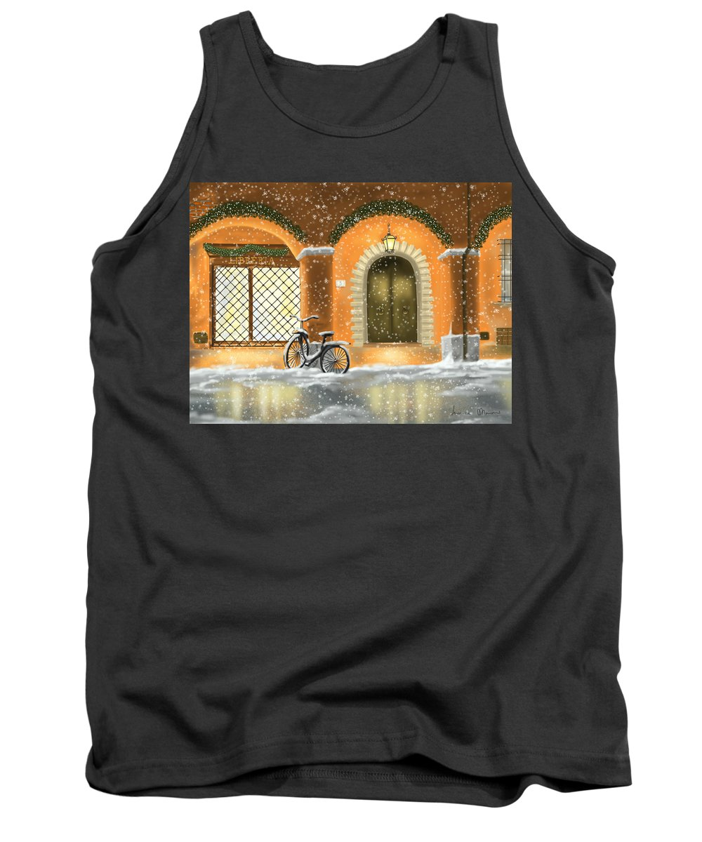 Red Tank Top featuring the painting Bologna by Veronica Minozzi