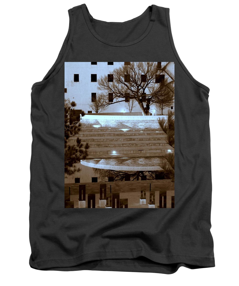 Oklahoma City Bombing Memorial Tank Top featuring the photograph Bombing Memorial Okc by Bob and Kathy Frank