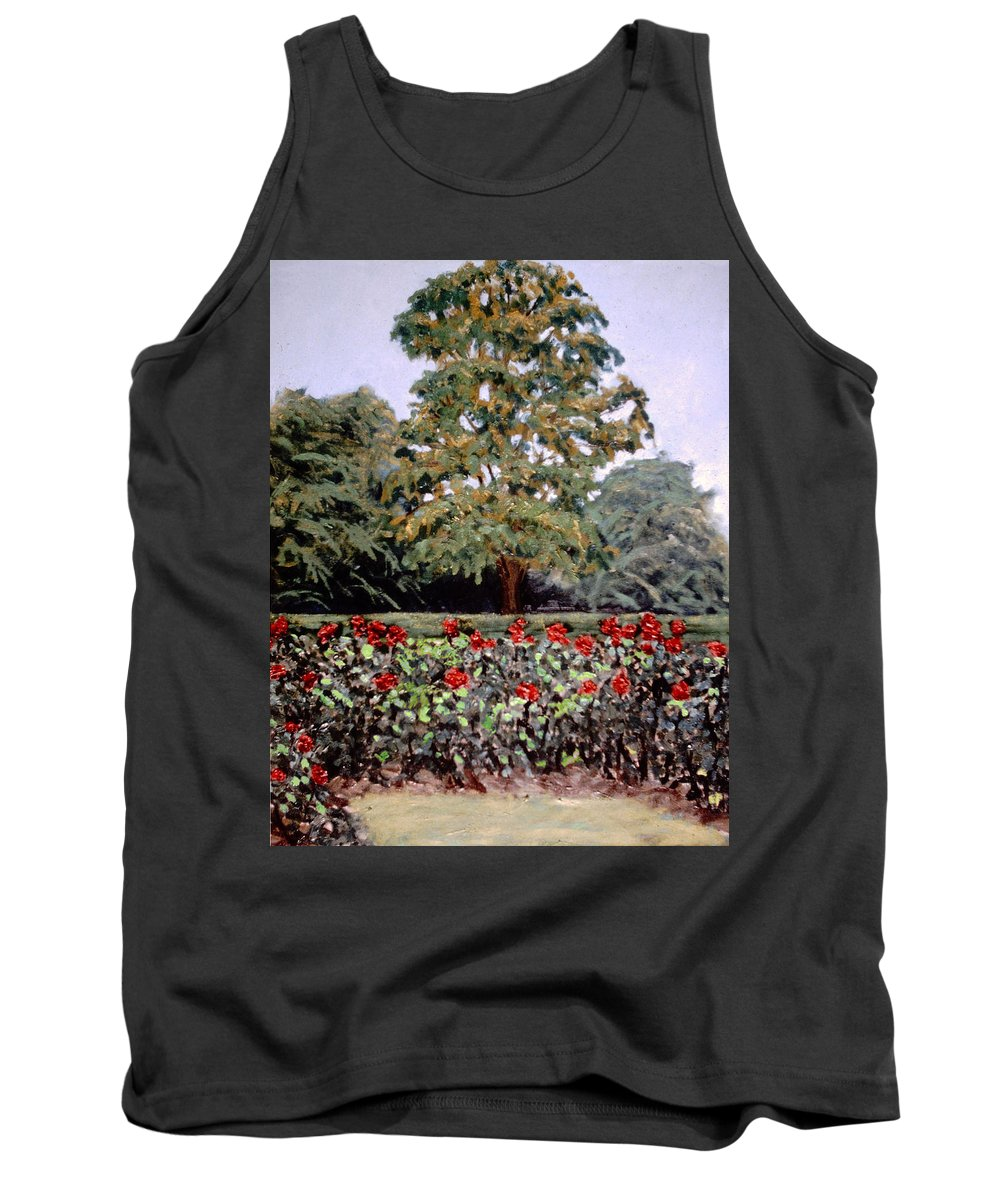 Flower Landscape Paintings Tank Top featuring the painting Bon Air Park by David Zimmerman