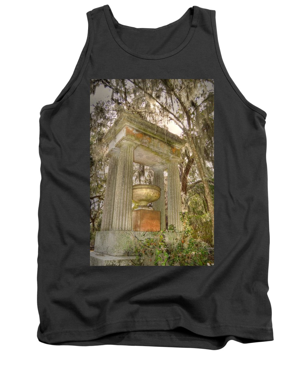 Bonaventure Tank Top featuring the photograph Bonaventure Statue by Linda Covino