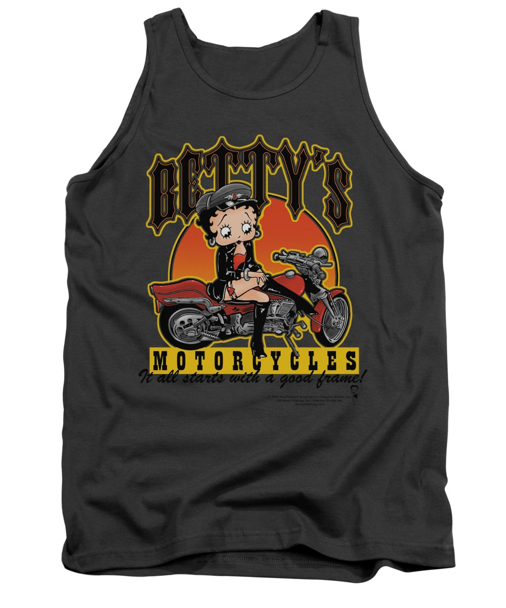 Betty Boop Tank Top featuring the digital art Boop - Betty's Motorcycles by Brand A