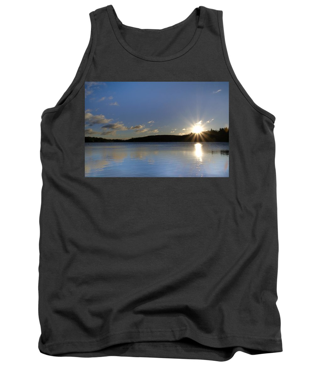 Boulder Tank Top featuring the photograph Boulder Lake At Sunrise by Bill Cannon