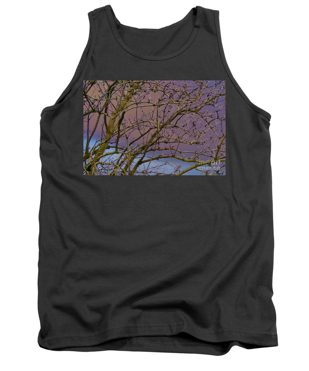 Branches Tank Top featuring the digital art Branches by Carol Lynch