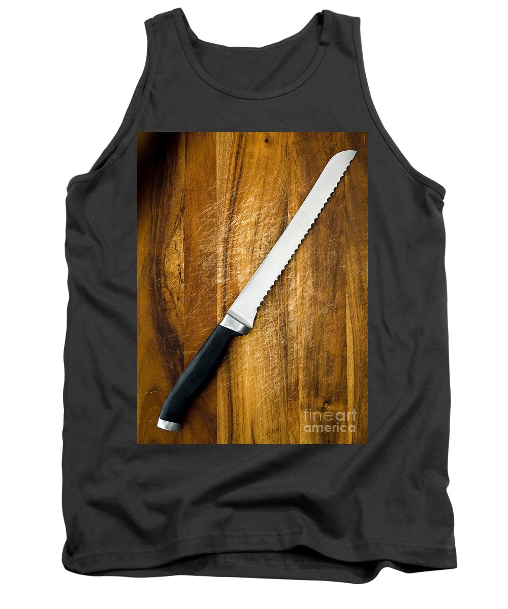 Blade Tank Top featuring the photograph Bread Knife by Tim Hester